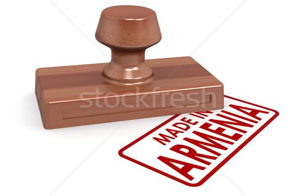 木製 スタンプ アルメニア 画像 レンダリング ストックフォト © tang90246