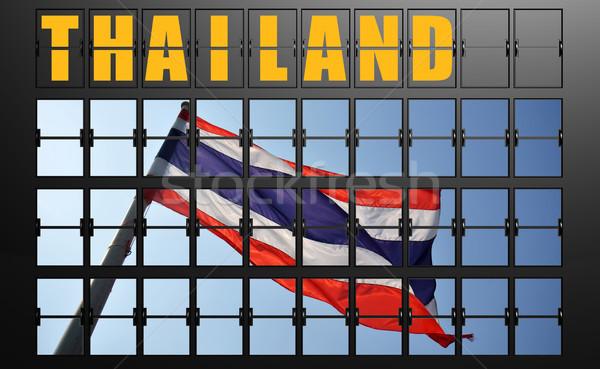 Airport display board of Thailand Stock photo © tang90246