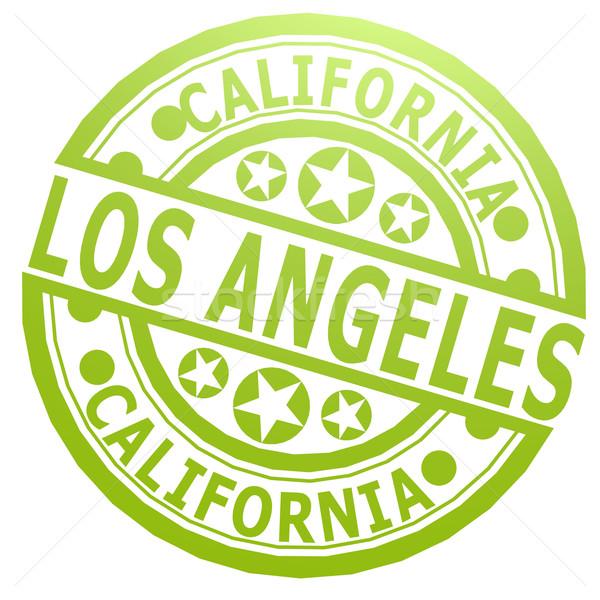 Los Angeles carimbo imagem prestados usado Foto stock © tang90246