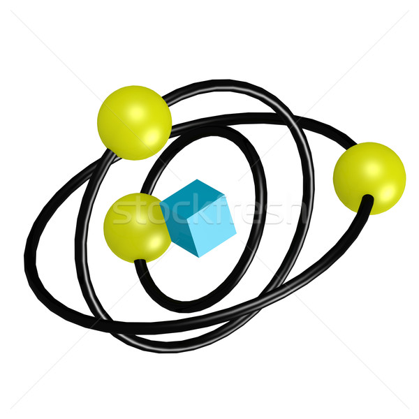 Atom structure Stock photo © tang90246