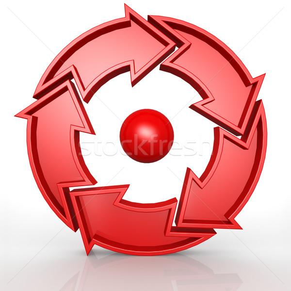 Стрелки красный дизайна модель успех Сток-фото © tang90246