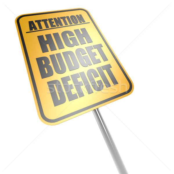 Stock photo: High budget deficit road sign