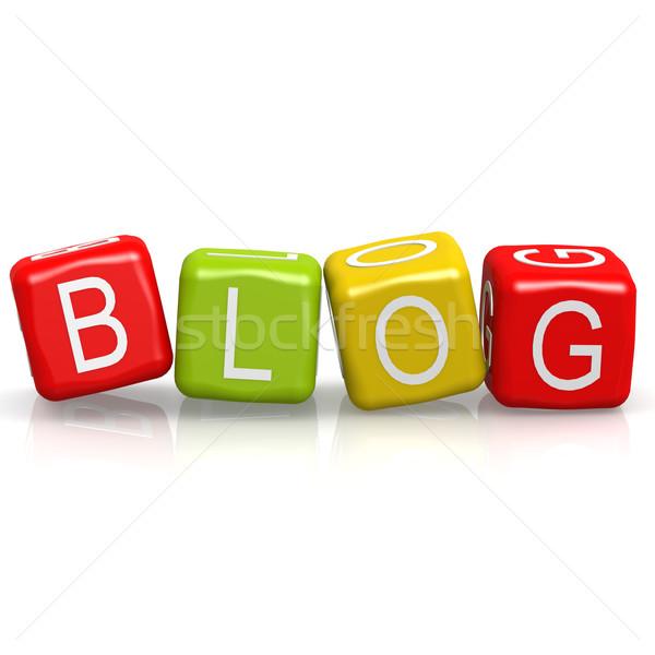 Blog buzzword Stock photo © tang90246