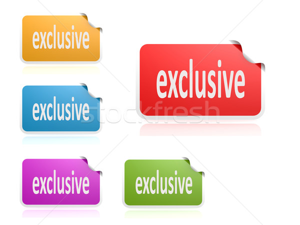 Label set exclusive Stock photo © tang90246