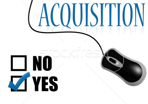 Acquisition check mark Stock photo © tang90246