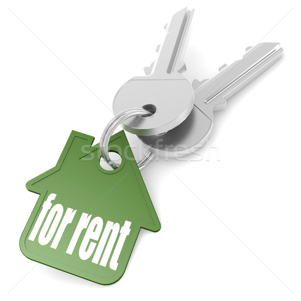 Keychain with for rent word Stock photo © tang90246