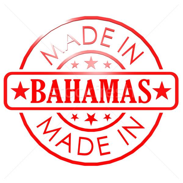 Багамские острова красный печать бизнеса бумаги дизайна Сток-фото © tang90246