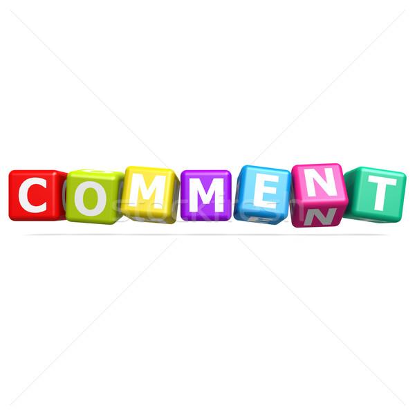 Cubo rompecabezas comentario negocios servicio cliente Foto stock © tang90246