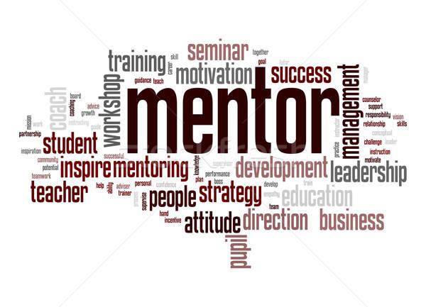 Mentor word cloud Stock photo © tang90246