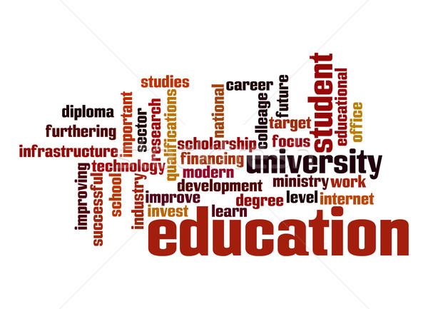 образование слово облако служба интернет студент технологий Сток-фото © tang90246