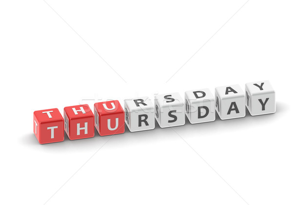 Thursday puzzle word Stock photo © tang90246
