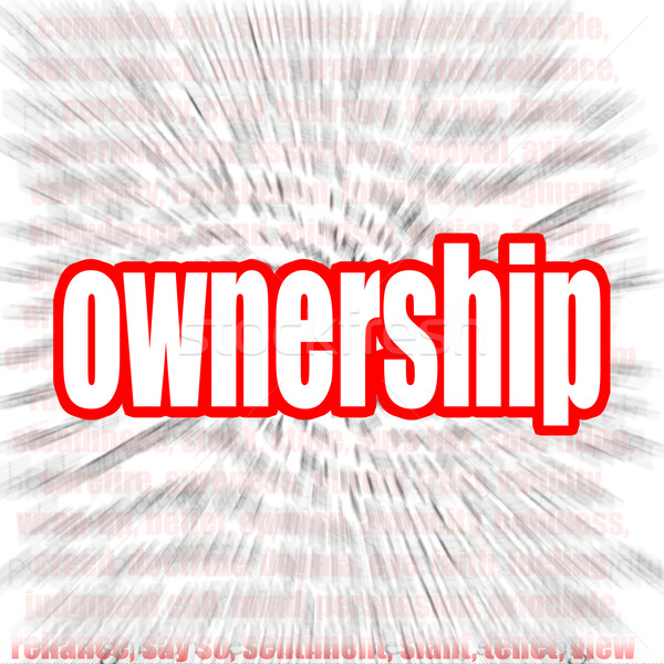Ownership word cloud Stock photo © tang90246