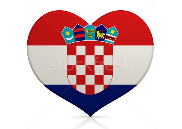 Hırvatistan kalp arka plan seyahat ülke kavram Stok fotoğraf © tang90246