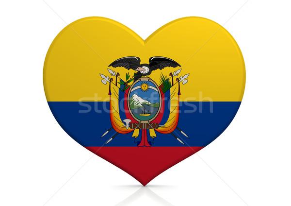 Ecuador szív háttér utazás vidék ötlet Stock fotó © tang90246