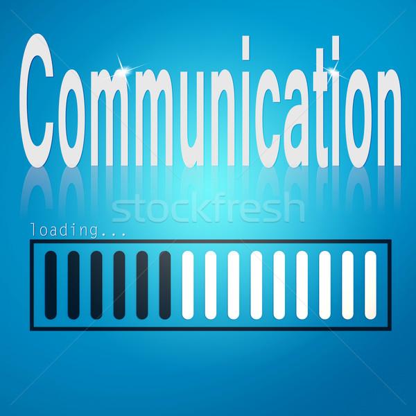 Communication blue loading bar Stock photo © tang90246