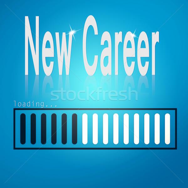 Stock photo: New career blue loading bar