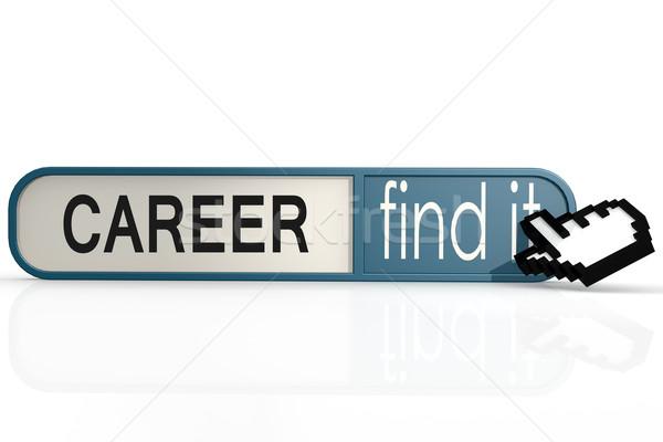 Сток-фото: карьеру · слово · синий · находить · баннер · изображение