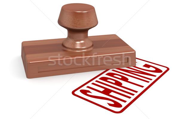 Sello envío rojo texto imagen Foto stock © tang90246