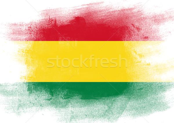 フラグ ボリビア 描いた ブラシ 固体 抽象的な ストックフォト © tang90246