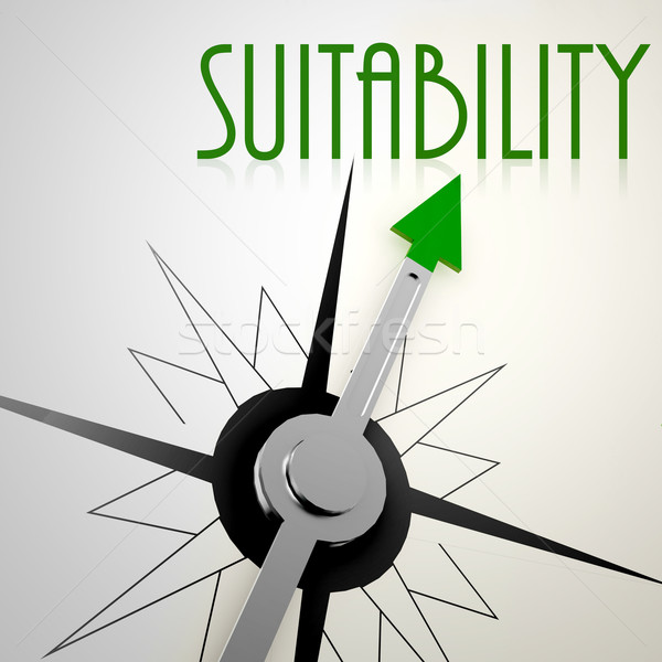 Suitability on green compass Stock photo © tang90246