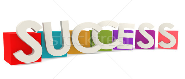 Colorful cubes with success word Stock photo © tang90246