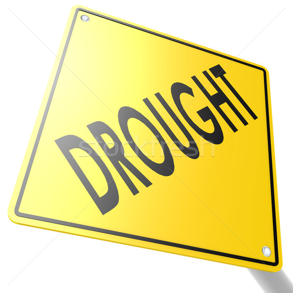 Road sign with drought Stock photo © tang90246
