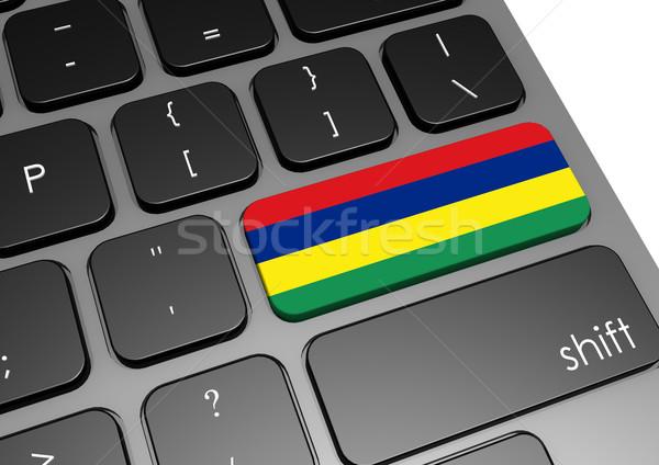 Mauricio teclado imagen prestados utilizado Foto stock © tang90246