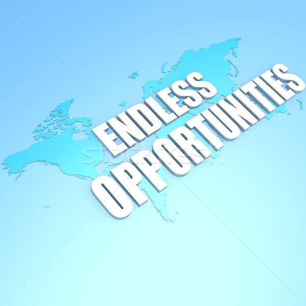 Endless opportunities world map Stock photo © tang90246