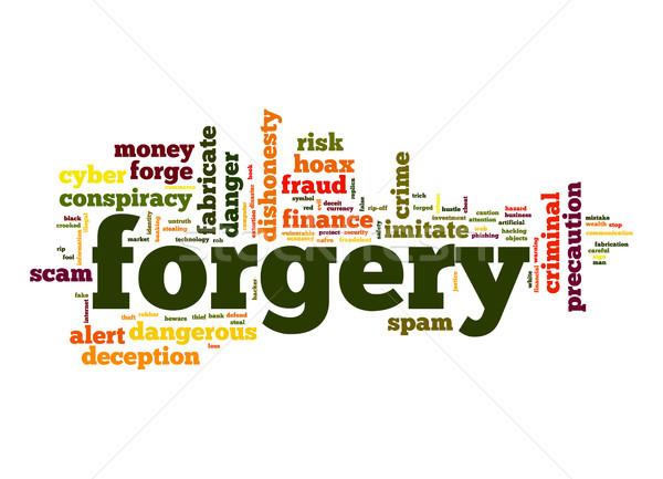 Szófelhő pénzügy veszély címke szöveg szó Stock fotó © tang90246