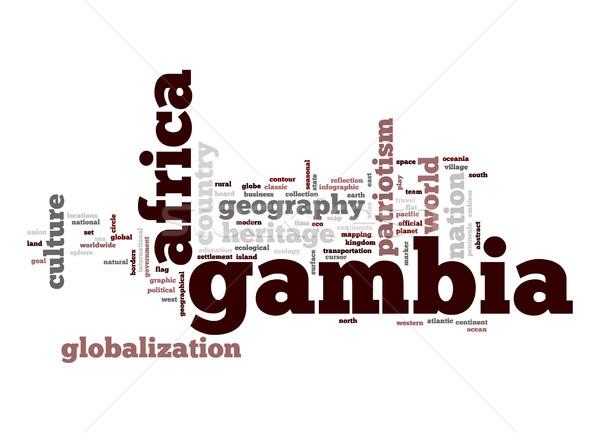 Gambia chmura słowo działalności świat Afryki Chmura Zdjęcia stock © tang90246