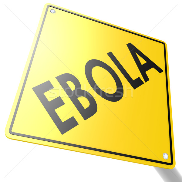Road sign with ebola Stock photo © tang90246
