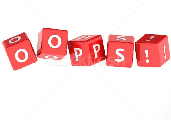 Oops quebra-cabeça palavra imagem prestados Foto stock © tang90246