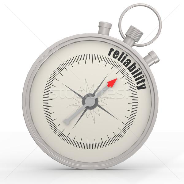 Betrouwbaarheid kompas afbeelding gerenderd gebruikt Stockfoto © tang90246