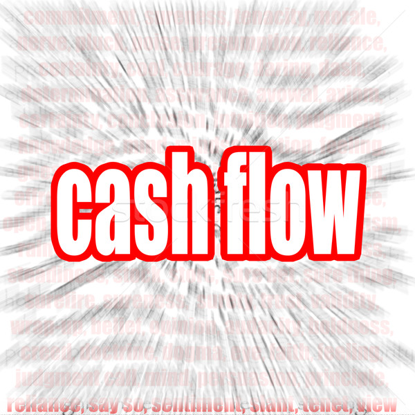 Cash flow word cloud Stock photo © tang90246