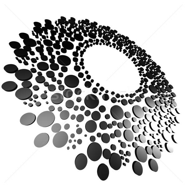 Сток-фото: черный · круга · точка · изображение · оказанный