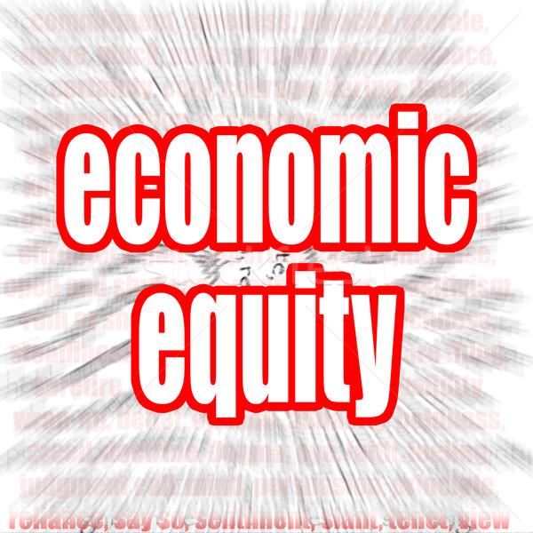 Gazdasági tőke szófelhő kép renderelt mű Stock fotó © tang90246