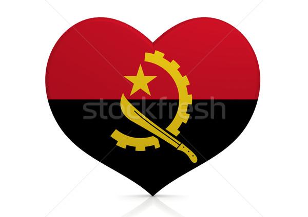 Ангола сердце фон путешествия стране концепция Сток-фото © tang90246