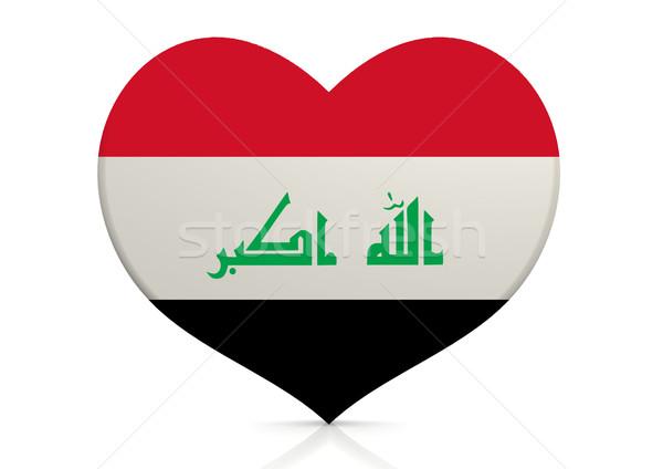 Irak hart achtergrond reizen land concept Stockfoto © tang90246