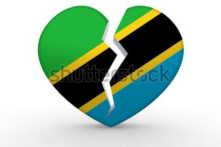 Tanzánia szív háttér utazás vidék ötlet Stock fotó © tang90246