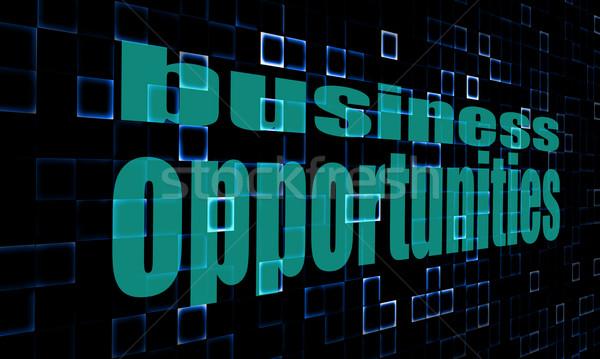Pixeles szavak üzlet lehetőségek digitális kép Stock fotó © tang90246