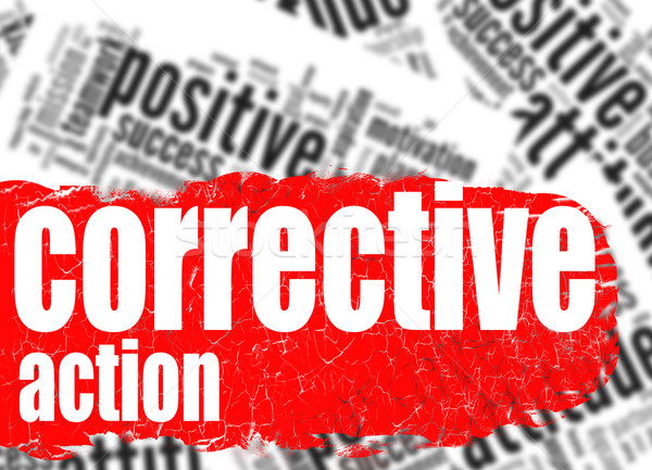 Word cloud corrective action Stock photo © tang90246
