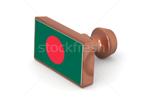 Carimbo Bangladesh bandeira imagem prestados Foto stock © tang90246