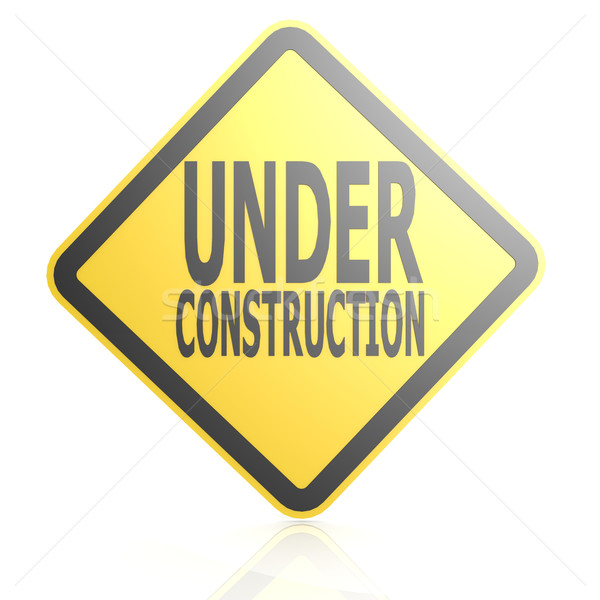 Under construction sign board Stock photo © tang90246