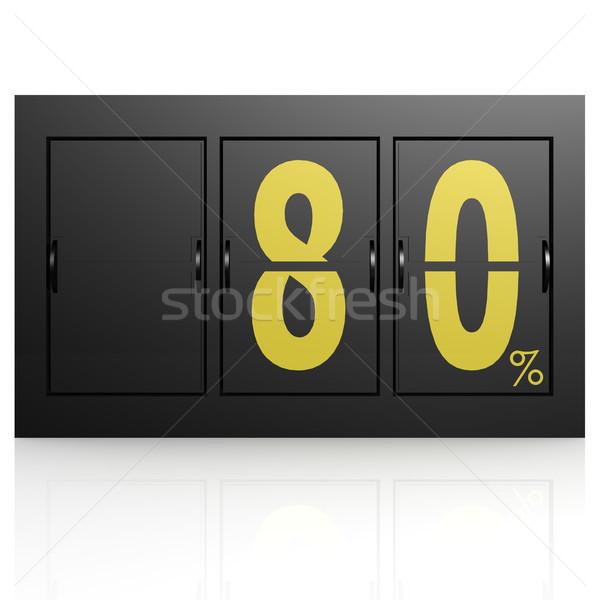 Airport display board 80 percent Stock photo © tang90246