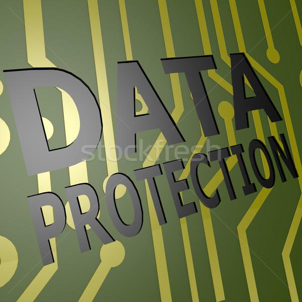 ボード データ保護 ビジネス インターネット セキュリティ ネットワーク ストックフォト © tang90246