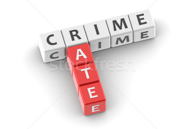 Buzzwords crime rate Stock photo © tang90246