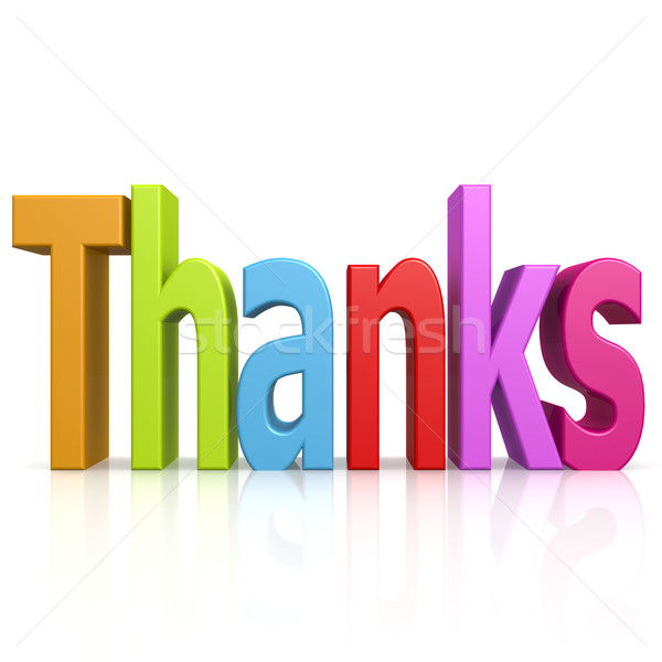 Thanks color word Stock photo © tang90246