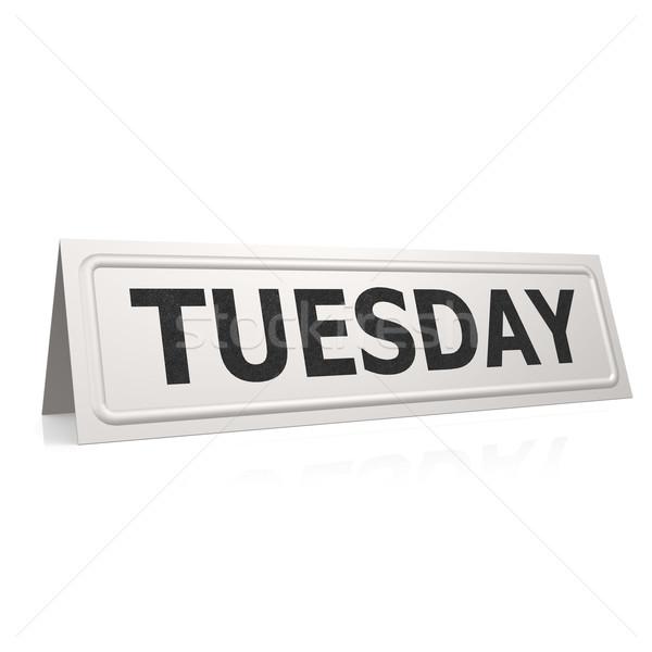 Tuesday board Stock photo © tang90246