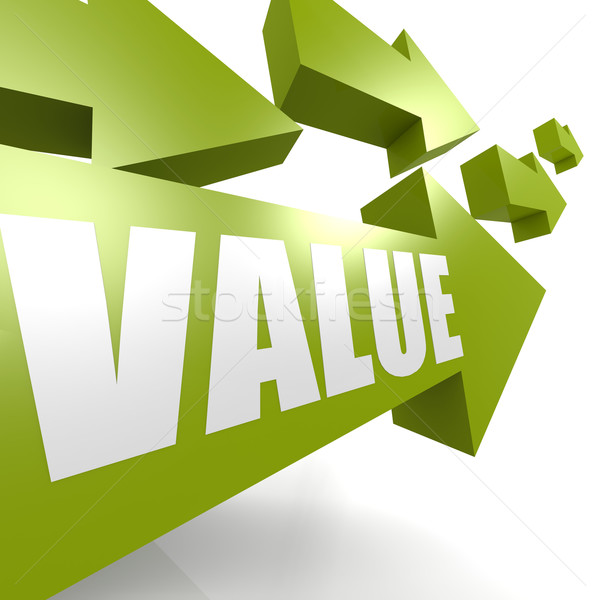 Value arrow in green Stock photo © tang90246