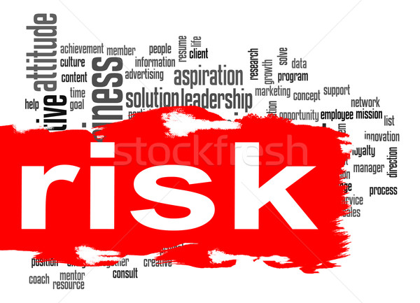 Risk word cloud with red banner Stock photo © tang90246